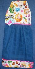 **NEW** Handmade Shopkins Collectibles on Blue Hanging Kitchen Hand Towel #1472