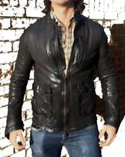 *SLIM-FIT* Joey Essex Collide ALL SAINTS SYNC LEATHER JACKET M RRP £298
