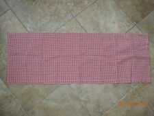 """Red White Checked Curtain Valence w/Pocket for Rod 100% Cotton 14x40""""~EUC"""