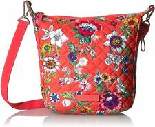 Vera Bradley Carson Mini Hobo Crossbody Shoulder Bag in Coral Floral NWT