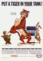 ESSO Put a tiger In Your Tank VINTAGE ENAMEL METAL TIN SIGN WALL PLAQUE