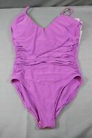 Magicsuit Solid Isabel One-Piece Swimsuit, Women's Size 10, Purple NEW