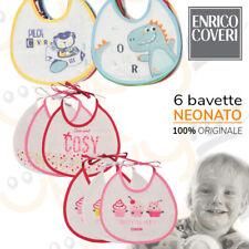 6 Bavaglini bavette neonato spugna impermeabile plastificato Coveri idea regalo
