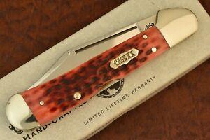 CASE XX USA SELECT POCKET WORN RED BONE COPPERLOCK KNIFE 61546L SS 1998 (7307)