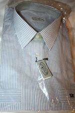 Bundes - Post Beamte Oberhemd Hemd Gr. 42 Blau Weiß Kurzarm Nylon Retro Vintage