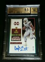 BGS 9.5/10 DAK PRESCOTT RC AUTO /99 1 OF 7 TRUE ROOKIE GEMS 2016 Contenders #125