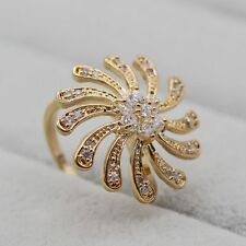 Unique Crystal18K Gold Plated Women Lady Wedding Ring Size 7 Jewelry 2017 New