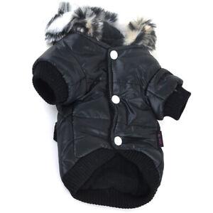 Pet Dog Puppy Winter Warm Padded Fleece Hoodie Coat Vest Clothes Apparel Jacket