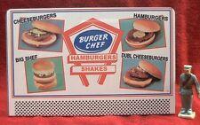 BURGER CHEF CHOICES  #84B___TINPLATE BILLBOARD  O/S SCALE