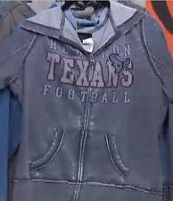 Houston TEXANS NFL Womens Princess Distressed Burnout  Hoodie Sweatshirt ~Large