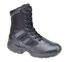 Zip Combat Boots 100% Leather Shoes for Men