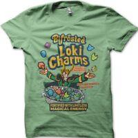 LOKI Charms Thor superhero antihero Asgard Bifrost green t-shirt FN9804