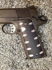 1911 Custom Colt Kimber SA Sawtooth Aluminum Grips - Two Tone Black
