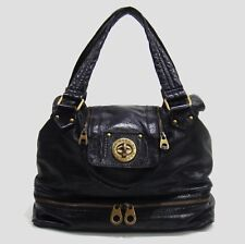 $478 Marc by Marc Jacobs Dark Navy Leather Posh Super K Tote Bag