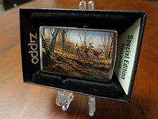 BIG BUCK AND DOE DEER IN FOREST AUTUMN ZIPPO LIGHTER MINT IN BOX