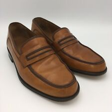 Paul Stuart Loafers Mens 9 M Shoes Light Brown Cognac Leather Made In Spain