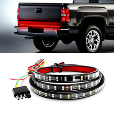 60 INCH Red+White LED Tailgate Sequential Flowing Signal Brake Reverse Light 12V