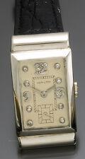 Deco Platinum Hamilton Watch with Diamond Dial CA1940s