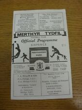 1965/1966 Merthyr Tydfil v Hinkley Athletic  . Thanks for viewing this item, buy