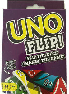 UNO Flip! Double Sided Playing Cards Family Fun Game BRAND NEW