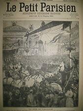 PLACE DE L'OPERA FETE DE L'ALLIANCE ATTENTAT MAIRE TOULON LE PETIT PARISIEN 1897