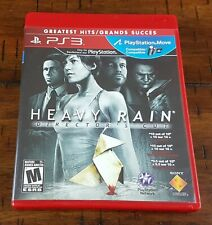 PS3 Greatest Hits Heavy Rain Directors Cut Rated M ~ Game + Box + Instructions