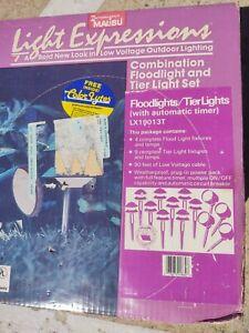 Intermatic Malibu Outdoor Lighting Kit Low Voltage Set 13 9 Tier 4 Flood NEW