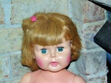 VINTAGE HORSMAN DOLL RED HEAD THIRSTY WALKER 1960's 27 inches tall