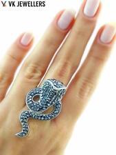 Turkish Handmade 925 Sterling Silver Jewelry Swarovski Crystal Cobra Ring Sz 5.5