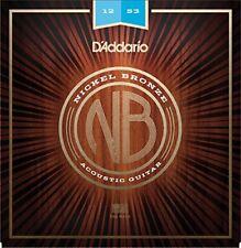 D'addario Nb1253 Níquel bronce guitarra Acústica cuerdas ligeras