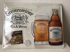 Extremely Rare German Veltins Grevensteiner New Metal Beer Sign Bar Advertising