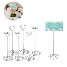 48pcs Heart Shape Wedding Party Name Table Number Place Card Holder Favor Clips