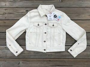 Toms Girl Jacket Long Sleeve Cotton Denim Jacket Natural Size M