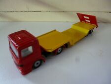 Truck with Trailer - # 1610 1611 - SIKU - Red Yellow  -