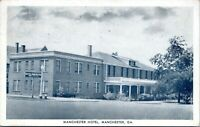 Manchester Georgia Manchester Hotel 1950s Postcard Meriwether Talbot County