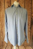 Mens Charles Tyrwhitt Long Sleeve Shirt Blue Stripe 16 Collar 48 Chest