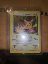 Birthday Surprise Pikachu 24 Black Star Holo Ultra Rare Promo Pokemon Card