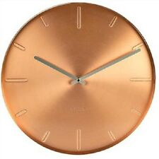 NEW Karlsson Wall Clock- OPEN FACE METAL WALL CLOCK IN COPPER FINISH - 40 CM DIA