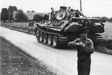 WW2 - Bourgthéroulde Normandie août 1944 - Char Panther allemand en retraite