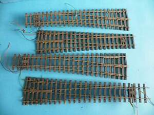 Unboxed O Gauge Peco 2 Left Hand 2 Right Hand Points 3 with Points Motor Fitted