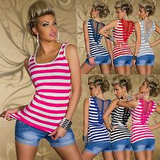 New Sexy Women Clubbing Crochet Lace Tank Top Ladies Shirt Size 6 8 10 12 Blouse