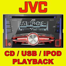 Jvc car/van Cd/mp3, entrada Aux Frontal, Usb Ipod/iphone Listo, Doble Din Stereo