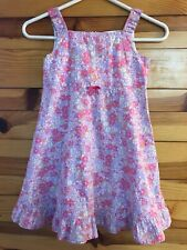 Hanna Andersson Lilac Floral Dress Girls Sleeveless Ruffled Hem Size 120  7