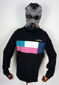 Huf Worldwide Sweatshirt Crewneck Longsleeve Shirt Crew Transition Black in L
