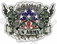 "US Army Military Soldier Gun Bullet War Car Bumper Vinyl Sticker Decal 5""X4"""