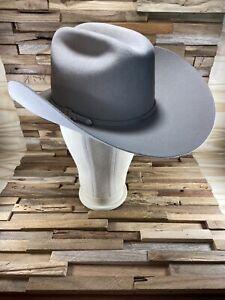 Master Hatters MHT Westerns Hat 3X Beaver Blend Paladora Mist Gray Size 38 7 1/4