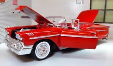 LGB G 1:24 Scale 1958 Red Chevrolet Impala Open Cabrio Diecast Model Car