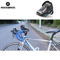 RockBros Bike Handlebar Bag For 6.0' Touch Screen Mobile Phone Bag Blue