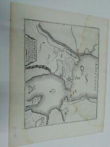 1696. Plan der Stadt /Festung  Le Port Louis in Frankreich. Nicolas de Fer