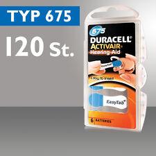 120x Piles Appareil Auditif Duracell Bouton D'aide De Type Pile Da675 Pr44 Zl1